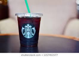BANGKOK THAILAND AUGUST 11 2018 Starbucks Beverage In Tall Take Away Plastic