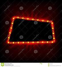 marquee light bulbs billboard at stock vector image 56550948