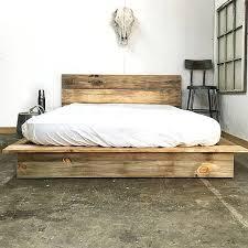 Rustic Modern Platform Bed Frame And Headboard Loft Style Diy
