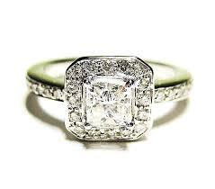 0 90ct Antique Vintage Style Square PRINCESS Diamond ENGAGEMENT