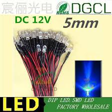 100pcs 12v 24v pre wired 5mm bright leds bulb warm white green