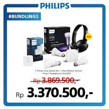 philips hue starter kit 1pc hue motion sensor get free philips bass headphone shl3075
