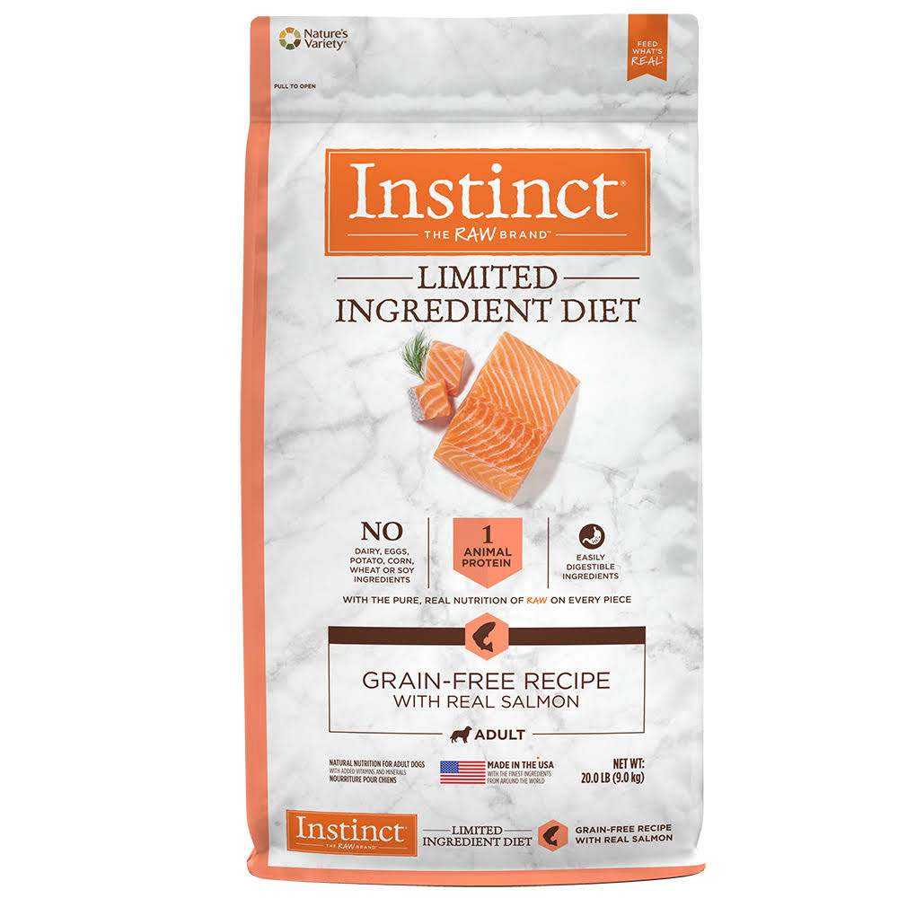 Natures Variety Instinct Limited Ingredient Diet Adult Dog Food - Salmon, 20lbs