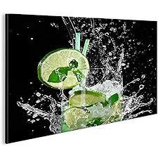 islandburner bild bilder auf leinwand mojito cocktail cocktailbar longdrink 1p poster leinwandbild wandbild dekoartikel wohnzimmer marke