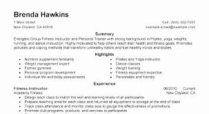Entry Level Fitness Instructor Resume Lovely Sample For Personal Trainer