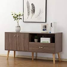 Soges Premuim TV Stand Buffet Table Console Entertainment Center Media Storage Wood