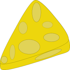 Illustration of a slice of cheese Free Stock