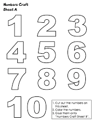 Big Bubble Numbers Clipart Clipart Kid Numbers To Color And Print