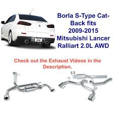 Borla S-Type Cat-Back Exhaust System Fits 2009-2017 Lancer Ralliart ... Flowmaster 17362 Catback Exhaust System Force Ii 1999 Borla Stype Catback 12671 Milltek Sport Audi 8p A3 Fwd 20t On 3 Performance Mustang Foxbody 50 Lx 1987 For The 42018 Gm Magnaflow 19281 Focus Stainless Steel Apr Cat Back S3 Saloon Clp Tuning 140680bc Tacoma 212 Truck Armytrix Valvetronic Blue Remus Mercedes Cla45 Amg Facelift Model 2015 Mbrp Xp Series S5338409 Rpm Renault Clio 09 Tce Dynamique S Medianav Ss Custom Longlife
