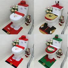 universal santa claus wc sitzbezug teppich badezimmer set dekoration weihnachten