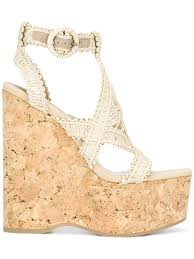 paloma barceló wedged sandals natural women shoes