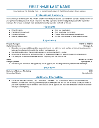 Work Professional Expanded Resume Template How To Write An Experienced