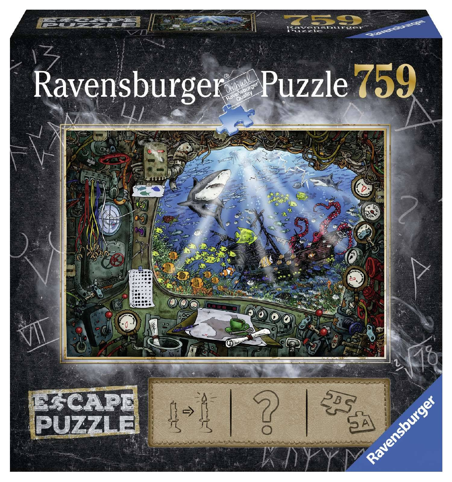 Ravensburger Submarine Escape Puzzle - 759pc