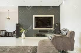 geräumige luxus wohnzimmer mit kino