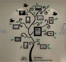 l arbre a cadre mode acrylique 3d arbre cadre photo wall sticker amovible papier