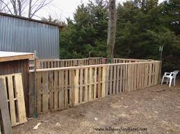 Fence Made From Pallets Diy Wooden Pallet Out Of Home See
