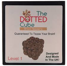 Halloween Brain Teasers by The Dotted Cube Brain Teaser Level 1 Wooden Cube Puzzle Made