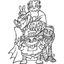 HALLOWEEN MONSTERS Coloring Pages Spooky Monsters