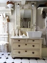 vintage badezimmer schrank mit integriertem waschb