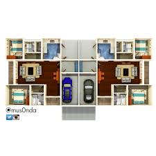 100 Semi Detached House Design Detached House 2 Bedroom Plans Building Design