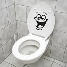 Funny Bathroom Door Art by Aliexpress Com Buy D505 Smiley Face Wc Toilet Fridge Decal Wall
