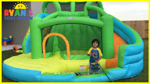 Inflatable Bathtub For Toddlers by Giant Inflatable Slide For Kids Little Tikes 2 In 1 Wet U0027n Dry