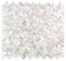 11 69 x12 51 serene white pearl tile herringbone style