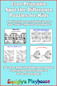 Haunted Halloween Crossword Puzzle Answers by Spot The Difference Puzzles At Squigly U0027s Playhouse