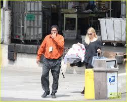 Charlize Theron & Baby Jackson Post fice Run