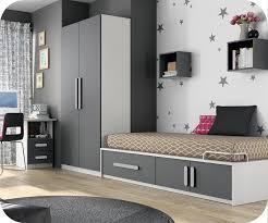 chambre de enfant chambre enfant planet blanche et gris anthracite