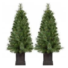 4 Ft Pre Lit Christmas Tree by 2pk 3 5ft Prelit Artificial Christmas Tree Potted Douglas Fir