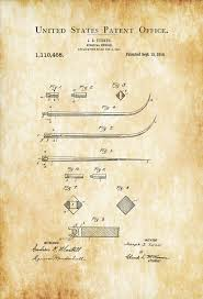 surgical needle patent print medical art doctor office decor