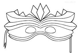 Hawaiian Tiki Mask Coloring Pages Carnival Page Printable For Images Free Pj Masks