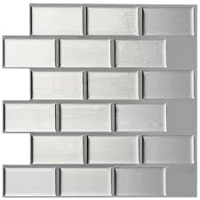 Rittenhouse Square Beveled Subway Tile by Daltile Rittenhouse Square Matte Desert Gray 3 In X 6 In Ceramic