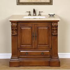 42 Inch Bathroom Vanity Cabinet With Top by Furniture Classic Wood Carving 42 Inch Bathroom Vanity With