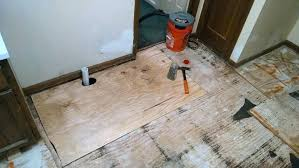 How To Install Plywood Flooring Floor Tile Laying Installing Bathroom On Concrete