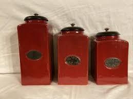 Ceramic Kitchen Canister Sets Ceramic Kitchen Canister Sets For Sale Ebay