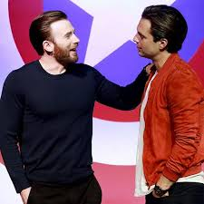 Chris Evans And Sebastian Stan Attend The Press Conference Of Captain America Civil War On April 2016 In Beijing China