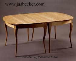 Contemporary Cabriole Leg Table Oval Extension Gazelle