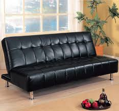 furniture wayfair sleeper sofa black faux leather futon faux