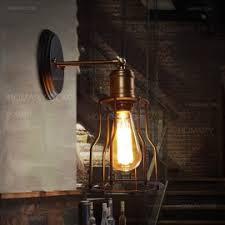 industrial loft matte black single vintage edison light bulb wall