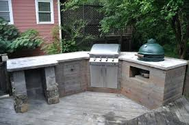 Outdoor Kitchen With Green Egg Outstanding Plans Big Marine Wood Planks