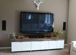 DIY Entertainment Center Using Ikea Cabinets Home Living
