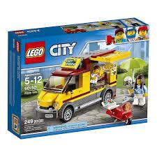 LEGO City Great Vehicles Pizza Van Food Truck & Moped Building Set ...