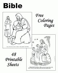 Simple Coloring Free Bible Story Pages To Print At