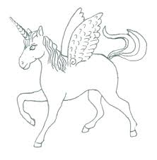 Unicorn Coloring Pages Printable Unicorns Flying Realistic Printab