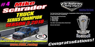 100 Arca Truck Series S3 2018 Champion Mike Schrader Poster Old Bastards