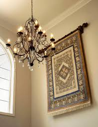 tapestry wall hangings in entry traditional with foyer light