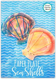 Make Super Cute Paper Plate Seashell Craft For Kids