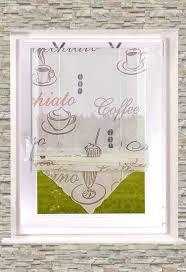 gardinen welt shop transparentes raffrollo kaffee